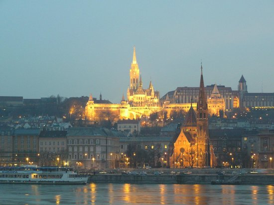 Corinthia Hotel Budapest:                   Looking over to Buda