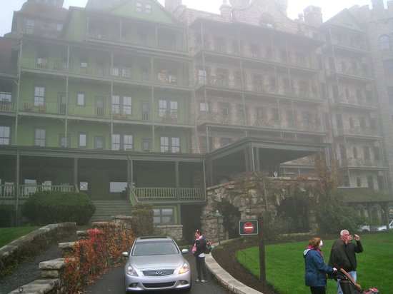 Mohonk Mountain House :                   Foggy, but that's the front of the hotel