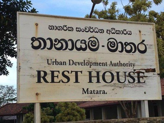 Rest House Matara :                   Entrance