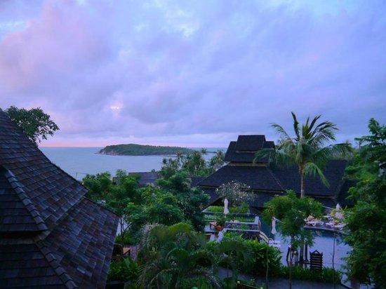 Nora Buri Resort & Spa:                   The beautiful early morning view from our room