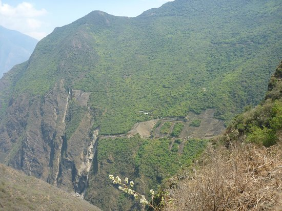 Choquequirao Trail:                                                       Choquequirao from approach trail