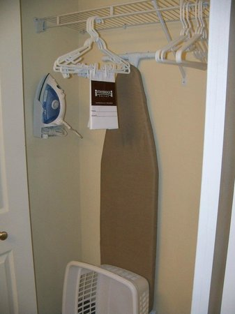 Staybridge Suites Phoenix/Glendale:                   Closet with Iron, Ironing Board & Laundry Basket