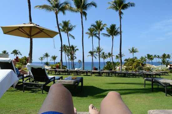 Fairmont Kea Lani, Maui:                   View from poolside, looking towards beach