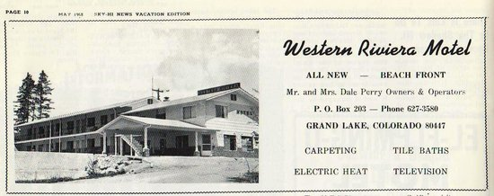 Western Riviera Lakeside Lodging & Events: Western Riviera in 1968