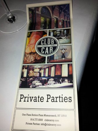 Club Car:                                     Their card!