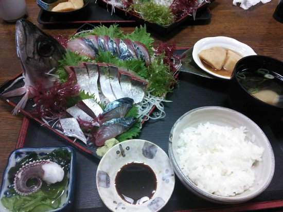 Kaisen Izutsu :                                     関サバ定食