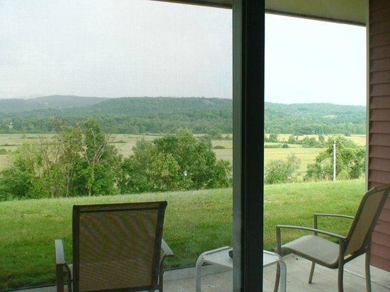 Hampton, NY:                                     Patio Overlooking the Green Mountains