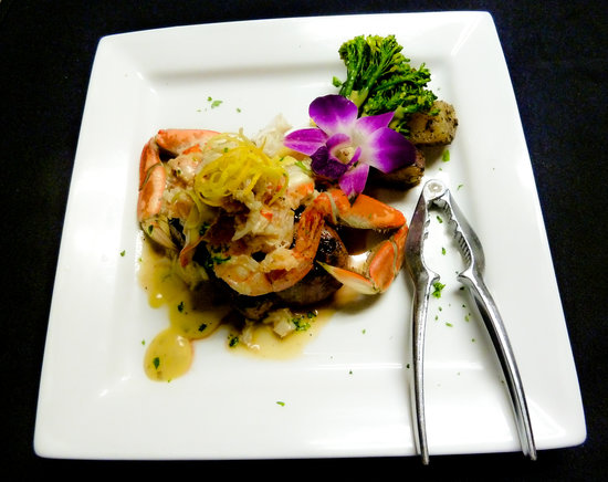 Silverwater Cafe : Natural certified Angus beef tenderloin cooked to your liking and topped with sautéed black tige