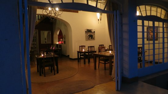 Arusha Safari Lodge:                   Dining room in main lodge house