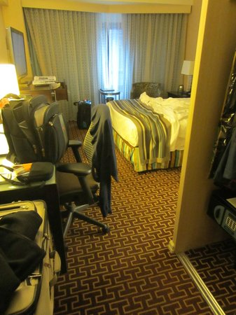 New York Hilton Midtown:                                     Not much space to walk