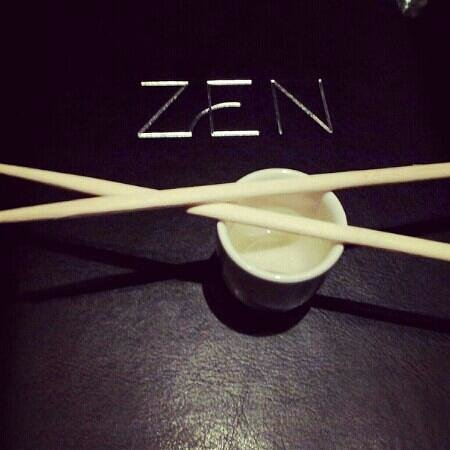 Zen Restaurant :                   Chopsticks and Saki