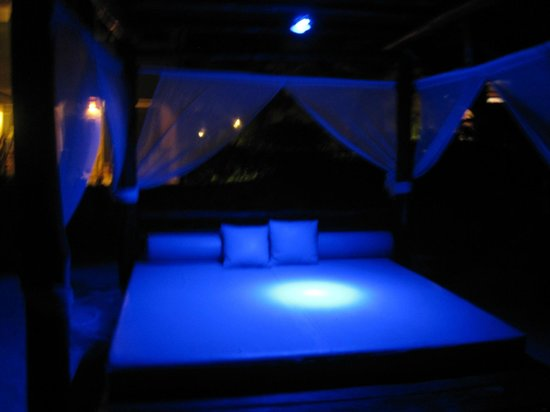 Hidden Beach Resort by Karisma:                                     night-time beach bed