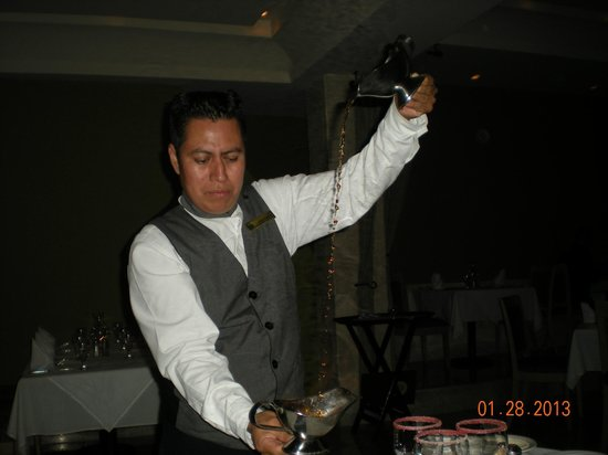 Royal Solaris Cancun:                                                       Flaming coffee (very cool)