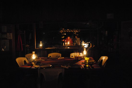 Moonracer Farm Lodging & Tours:                   Dinner with lantern light