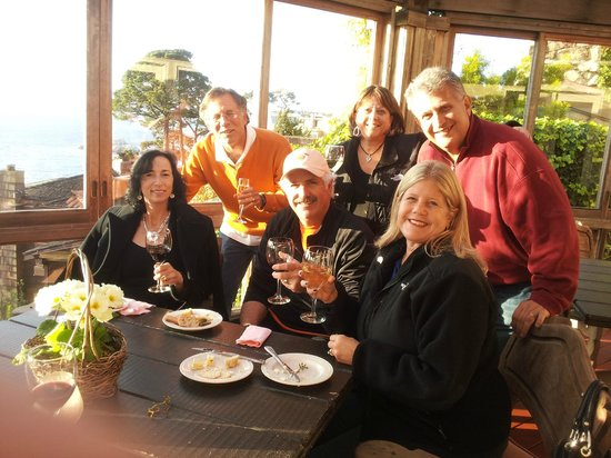 Tickle Pink Inn :                   wine and cheese reception with friends