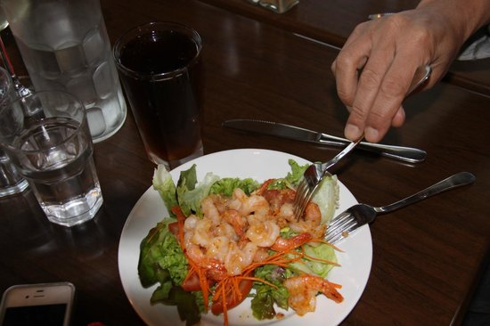 Ramada Resort Rotorua Marama: Clubhouse Cafe- Sweet Chilli Garlic prawns