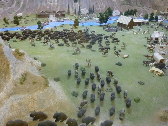 Old West Miniature Village and Museum:                                                       more buffalo herds