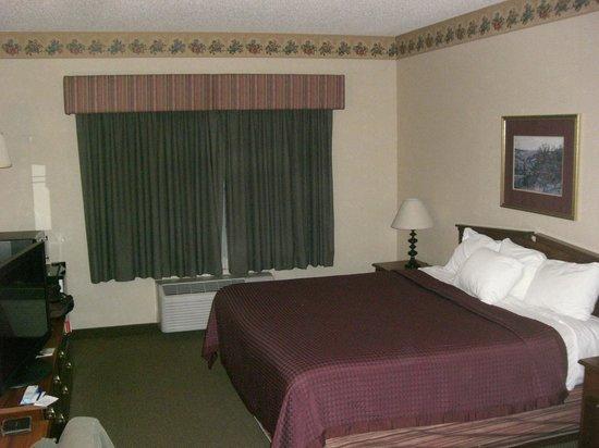 Best Western Chelsea Hotel:                   dark red bed