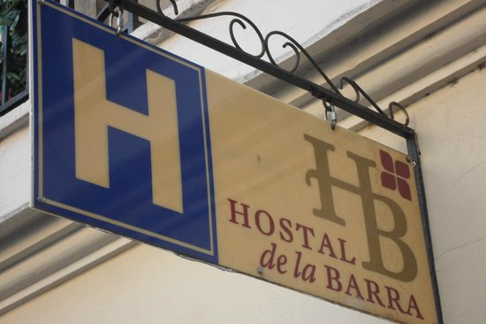 Hostal de la Barra:                   placa