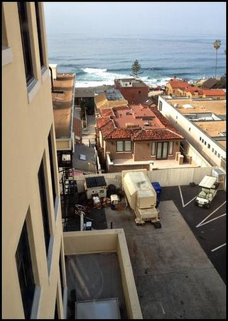 Grande Colonial La Jolla:                   Room 521 - Unless standing by the window, you don't notice the parking area.