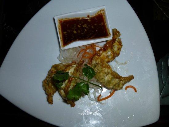 Charm Oriental Bar & Thai Restaurant:                   Sake Gyozas