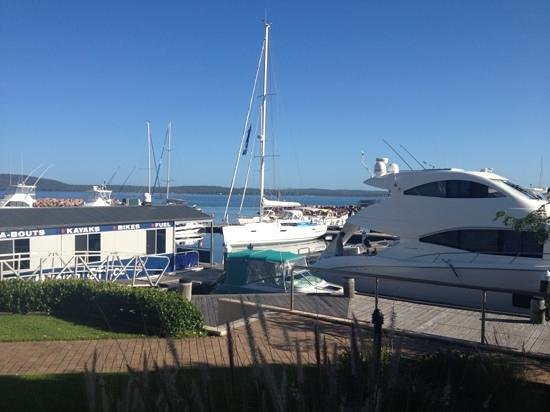 Anchorage Port Stephens:                   view from room 305