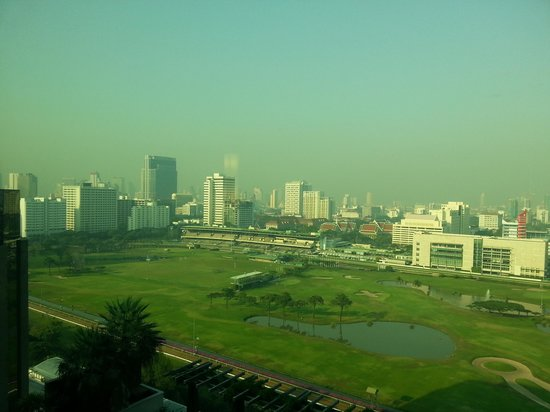 The St. Regis Bangkok:                   view from the 18th floor room