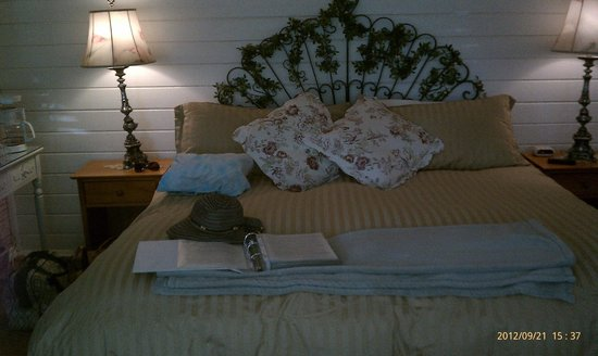 Eaglenest Bed and Breakfast:                   the comfy bed in the summer room
