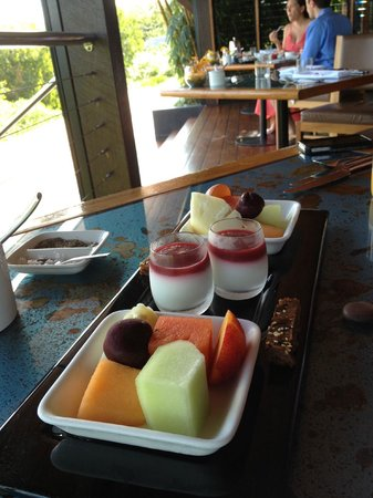 Qualia Resort: Breakfast starter in Long Pavilion