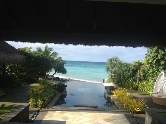 Shangri-La's Boracay Resort & Spa:                   View from Villa 13 out over pool to beach