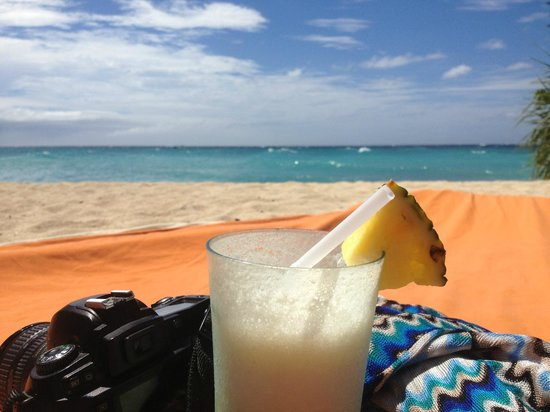 Shangri-La's Boracay Resort & Spa:                   Pina Colada on the beach