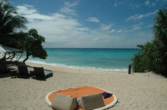 Shangri-La's Boracay Resort & Spa:                   Our private beach - Villa 13