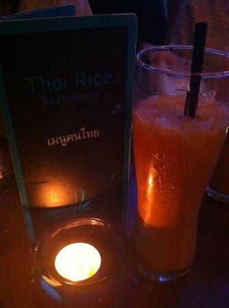 Thai Rice: thai tea!!! recommended