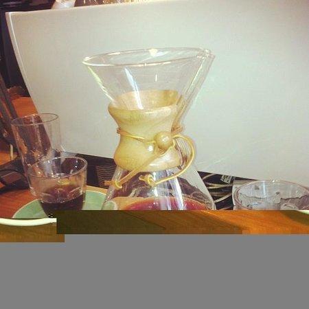 Flight Coffee Hangar:                                     A chemex of freshly roasted COE #27 La Combre, El Salvador b
