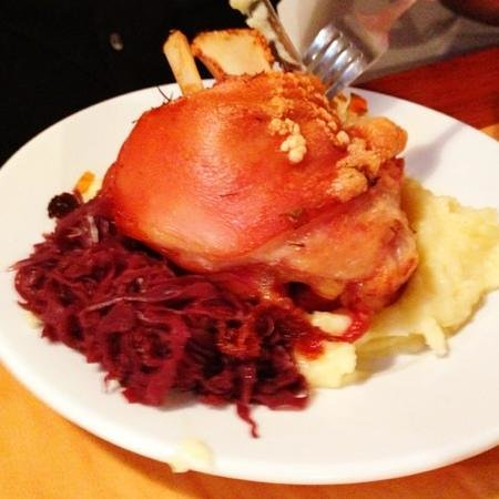 Wolfgang's German Restaurant:                   full pork knuckle