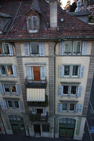 ibis Styles Luzern City: Vue de le terrasse de la chambre