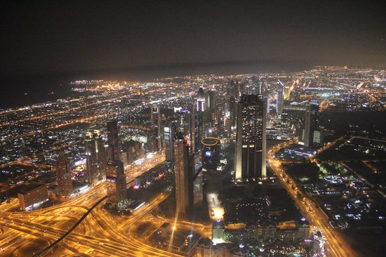 JA Oasis Beach Tower:                   view from the Burj Khalifa