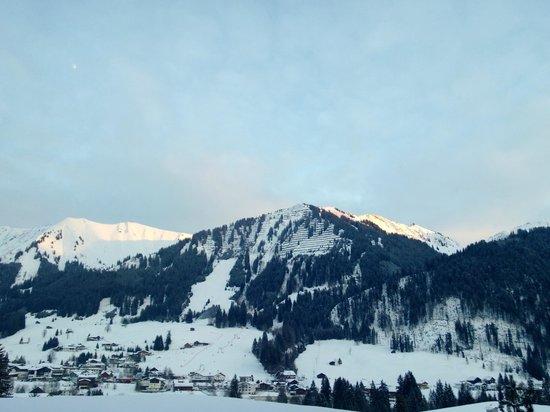 Hotel Erlebach:                   Aussicht vom Balkon