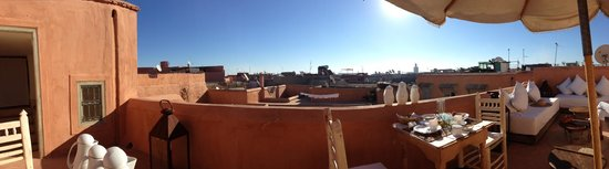 Le Riad Berbere:                   view from the terrace