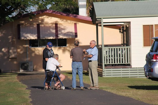 Bargara Beach Caravan Park:                   They say woman can talk, this shows men can do just as well