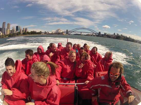 Oz Jet Boating Sydney Harbour:                   Pretty good views...