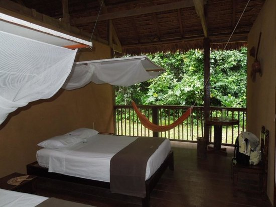 Posada Amazonas:                   Open room onto the forest
