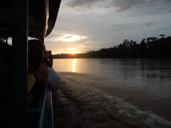 Posada Amazonas:                   Sunset on the river