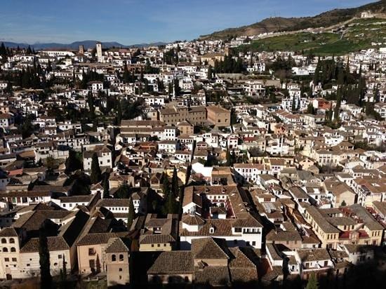 Hotel Las Almenas:                   view from La Alhambra