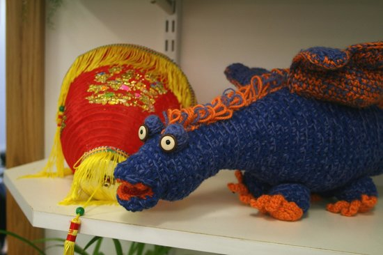 Whitehead Library: A woolen dragon