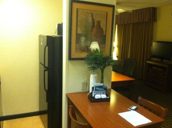 Homewood Suites by Hilton Columbia: small kitchen and view of the room