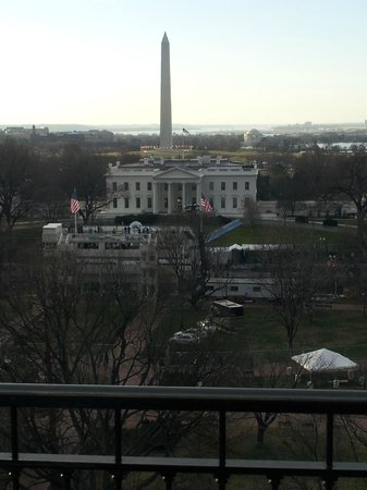 The Hay-Adams:                   This is actually the view from the rooftop.