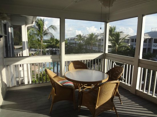 Hyatt Beach House Resort:                   Huge Balcony!