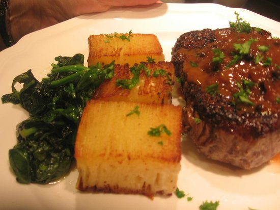 The Inn At Crippen Creek Farm: Duck Breast au Poivre with Potatoes Pave
