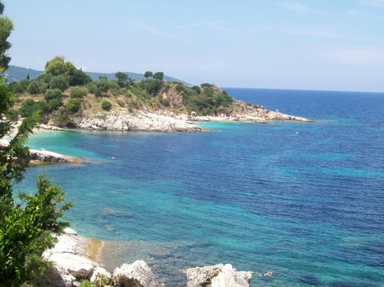 Kassiopi:                   view from the headland